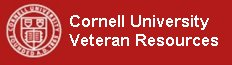 Click to open a Cornell University Veterans services web page