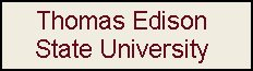 Click to view a Thomas Edison State University Veterans Services web page